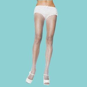 Leg Avenue White Fishnet Pantyhose